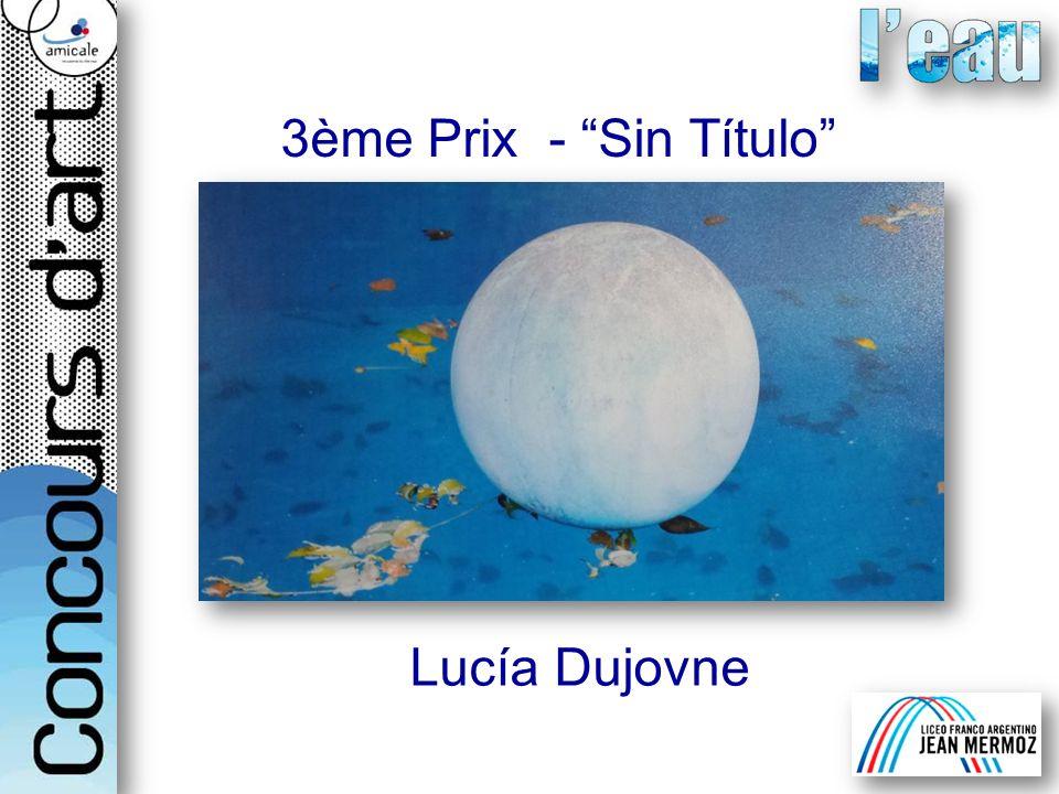 3ème Prix - Sin Título Lucía Dujovne