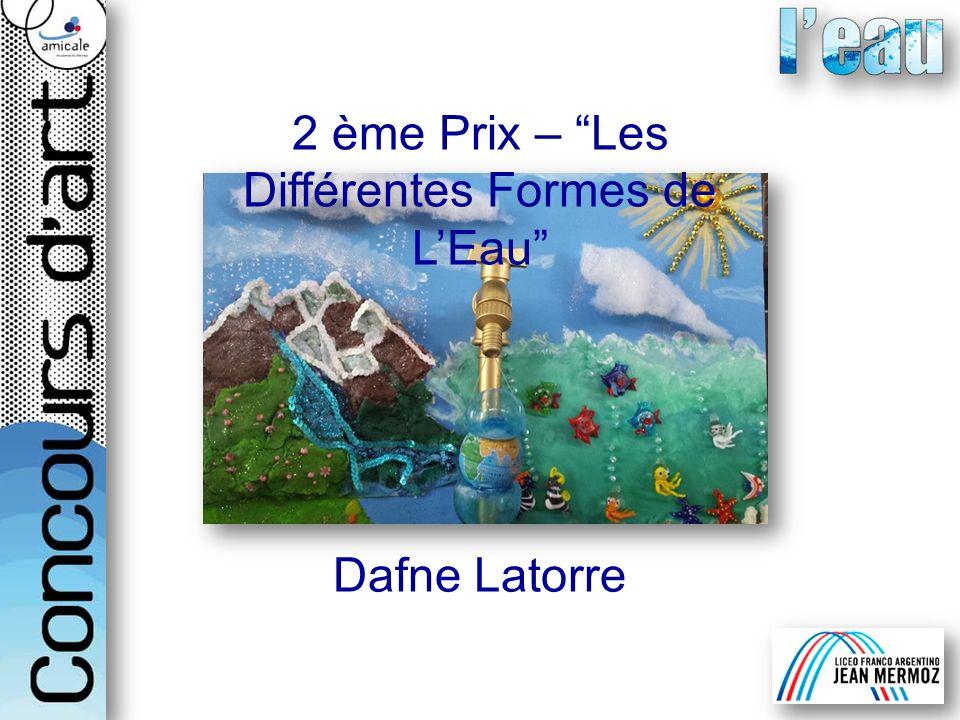 2 ème Prix – Les Différentes Formes de LEau Dafne Latorre