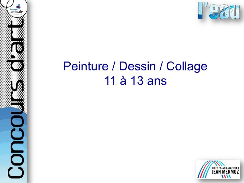 Peinture / Dessin / Collage 11 à 13 ans