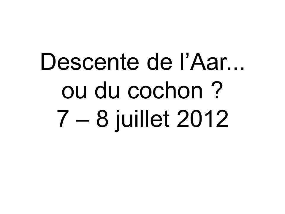 Descente de lAar... ou du cochon 7 – 8 juillet 2012