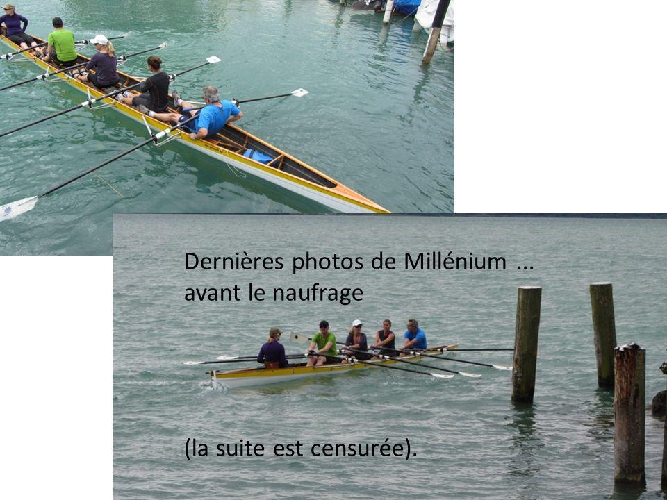 Dernières photos de Millénium... avant le naufrage (la suite est censurée).