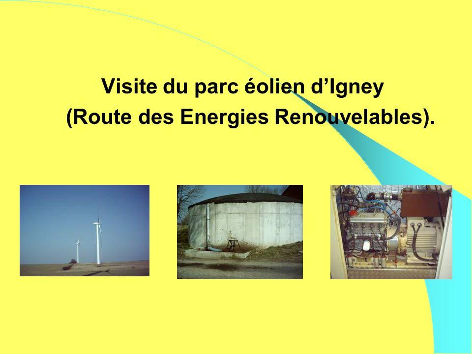 Visite du parc éolien dIgney (Route des Energies Renouvelables).