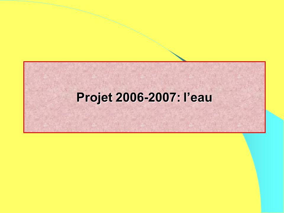Projet 2006-2007: leau