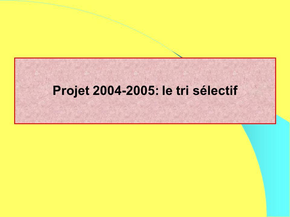 Projet 2004-2005: le tri sélectif