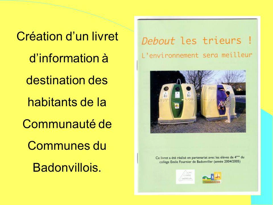 Création dun livret dinformation à destination des habitants de la Communauté de Communes du Badonvillois.