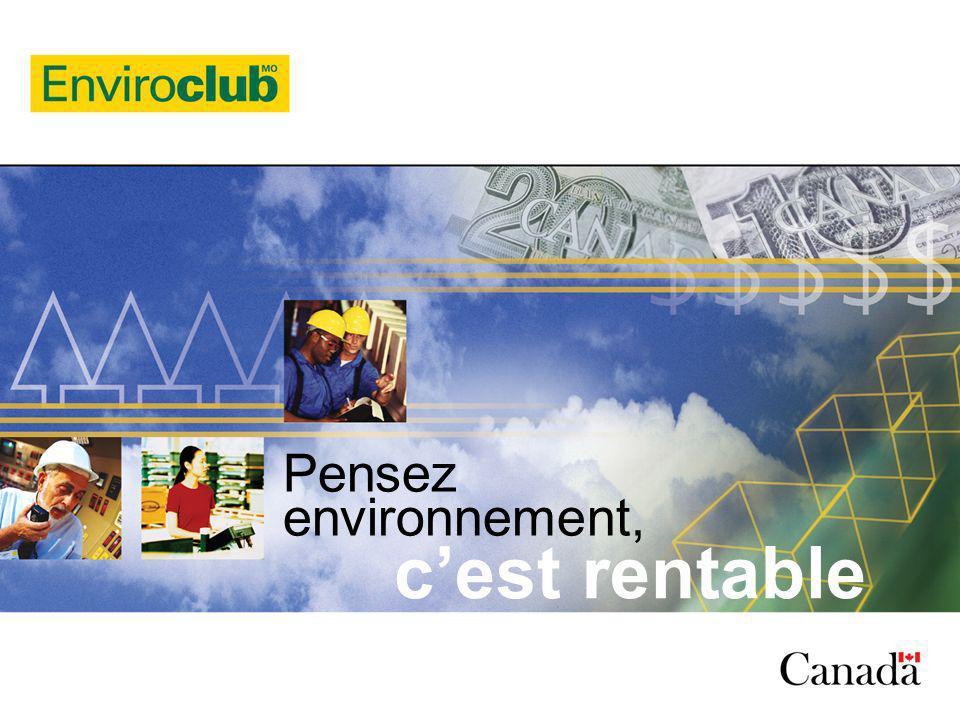 2 Plan de la présentation Enviroclub Développement durable et CQDD Objectifs du programme Enviroclub et approche innovatrice de prévention Le programme Les types de projets Les résultats concrets et retombées Synergie des sous-produits Le programme Lavancement du projet
