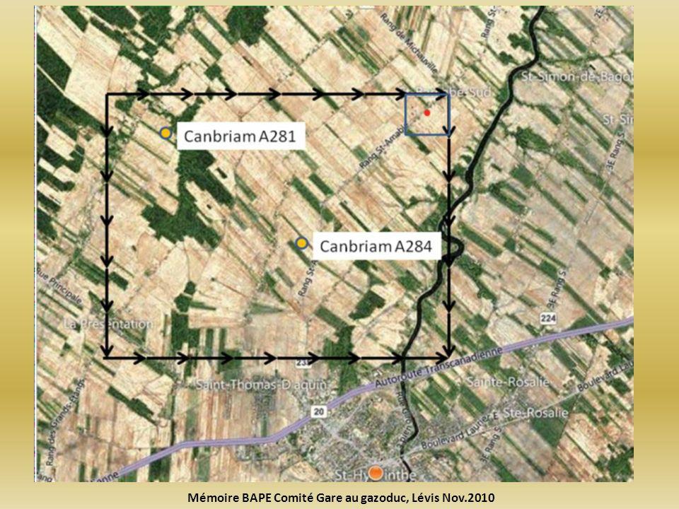 Mémoire BAPE Comité Gare au gazoduc, Lévis Nov.2010