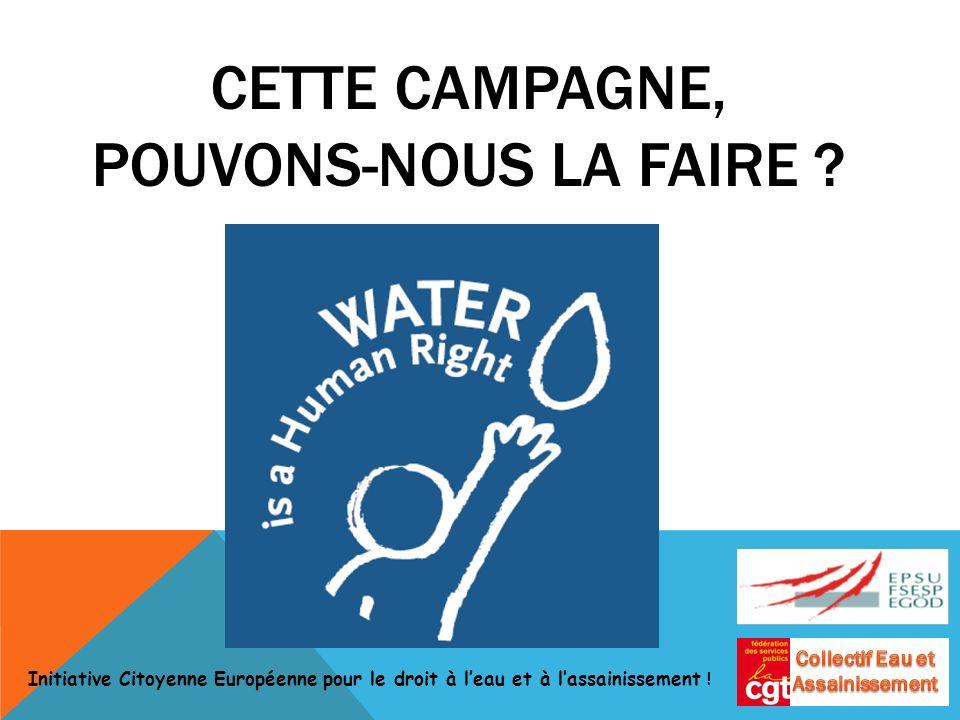Initiative Citoyenne Européenne pour le droit à leau et à lassainissement .