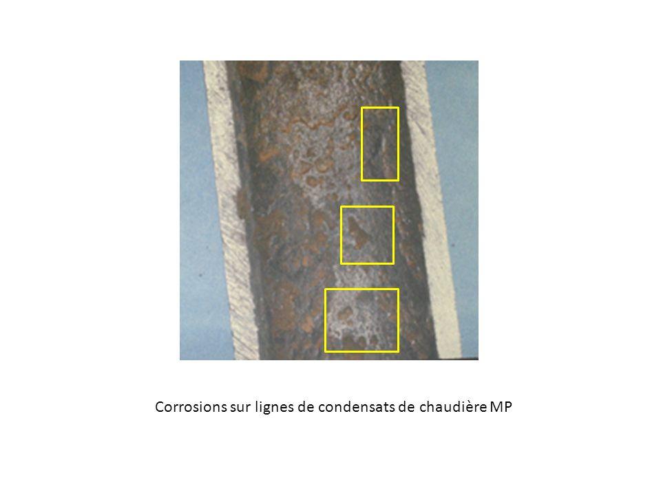 Corrosions sur lignes de condensats de chaudière MP