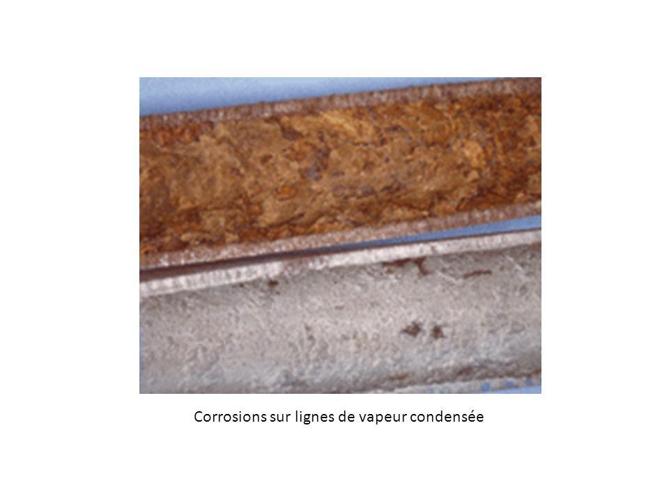 Corrosions sur lignes de vapeur condensée