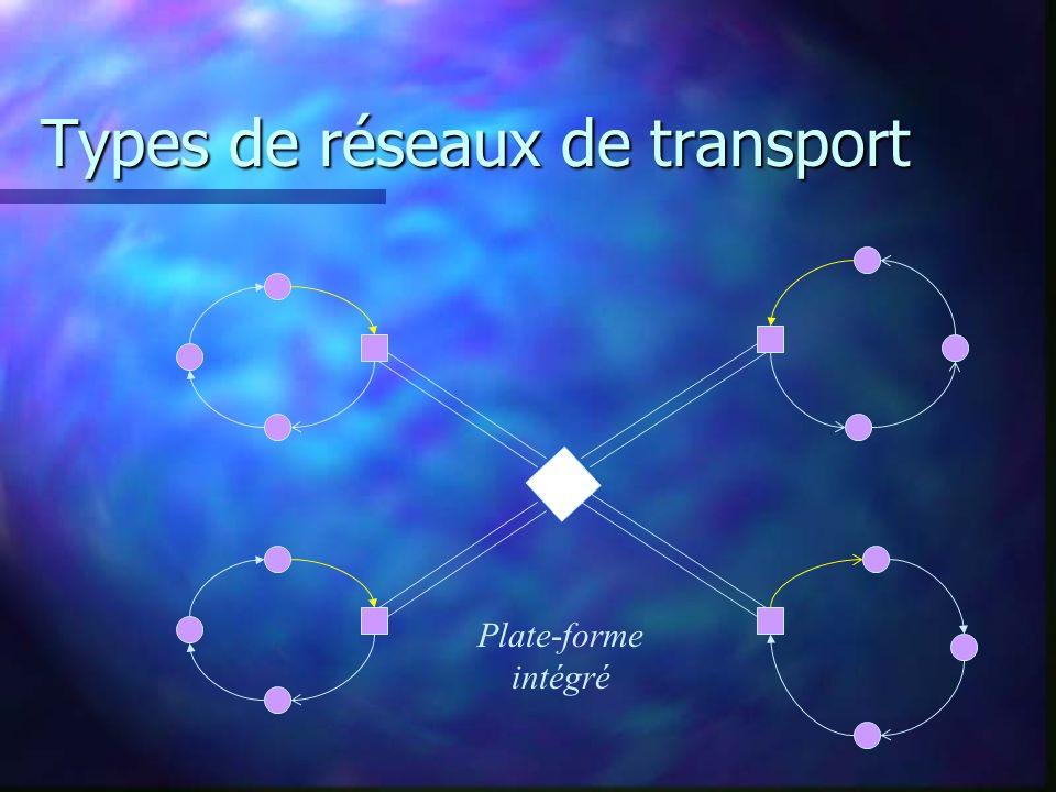 Types de réseaux de transport Plate-forme intégré