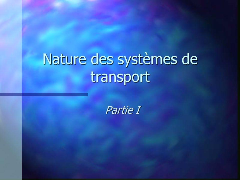 Nature des systèmes de transport Partie I