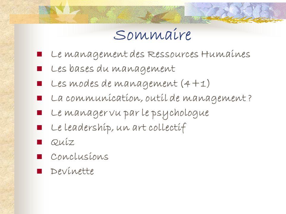 différents Les différents types de management