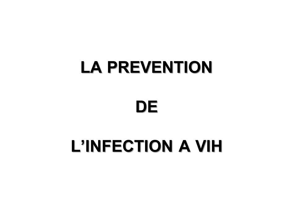 LA PREVENTION DE LINFECTION A VIH