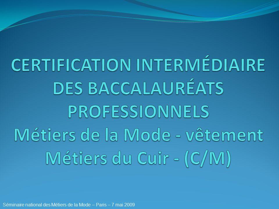 Séminaire national des Métiers de la Mode – Paris – 7 mai 2009
