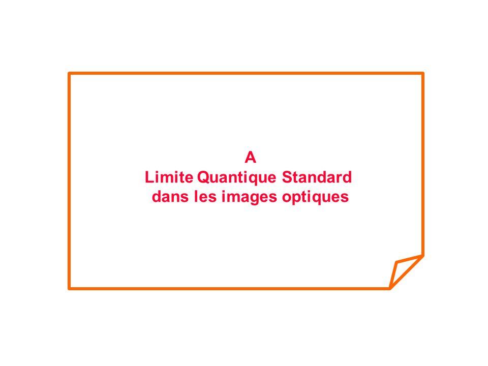 A Limite Quantique Standard dans les images optiques