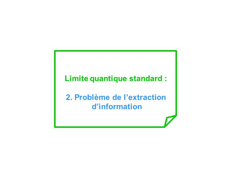 Limite quantique standard : 2. Problème de lextraction dinformation