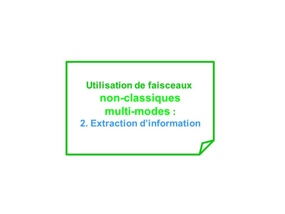 Utilisation de faisceaux non-classiques multi-modes : 2. Extraction dinformation