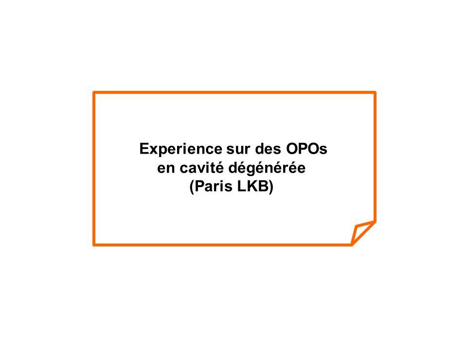 Experience sur des OPOs en cavité dégénérée (Paris LKB)