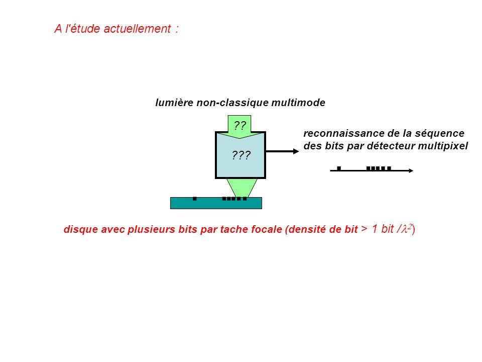 ??? ?? lumière non-classique multimode reconnaissance de la séquence des bits par détecteur multipixel disque avec plusieurs bits par tache focale (de