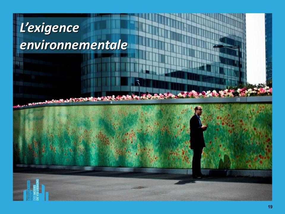 19 Lexigence environnementale