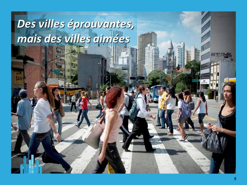 5 Des villes éprouvantes, mais des villes aimées