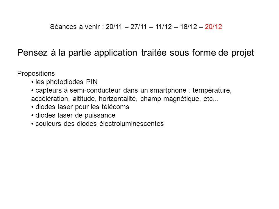 Pensez à la partie application traitée sous forme de projet Propositions les photodiodes PIN capteurs à semi-conducteur dans un smartphone : températu