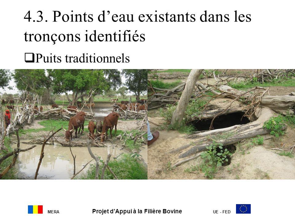4.3. Points deau existants dans les tronçons identifiés Puits traditionnels