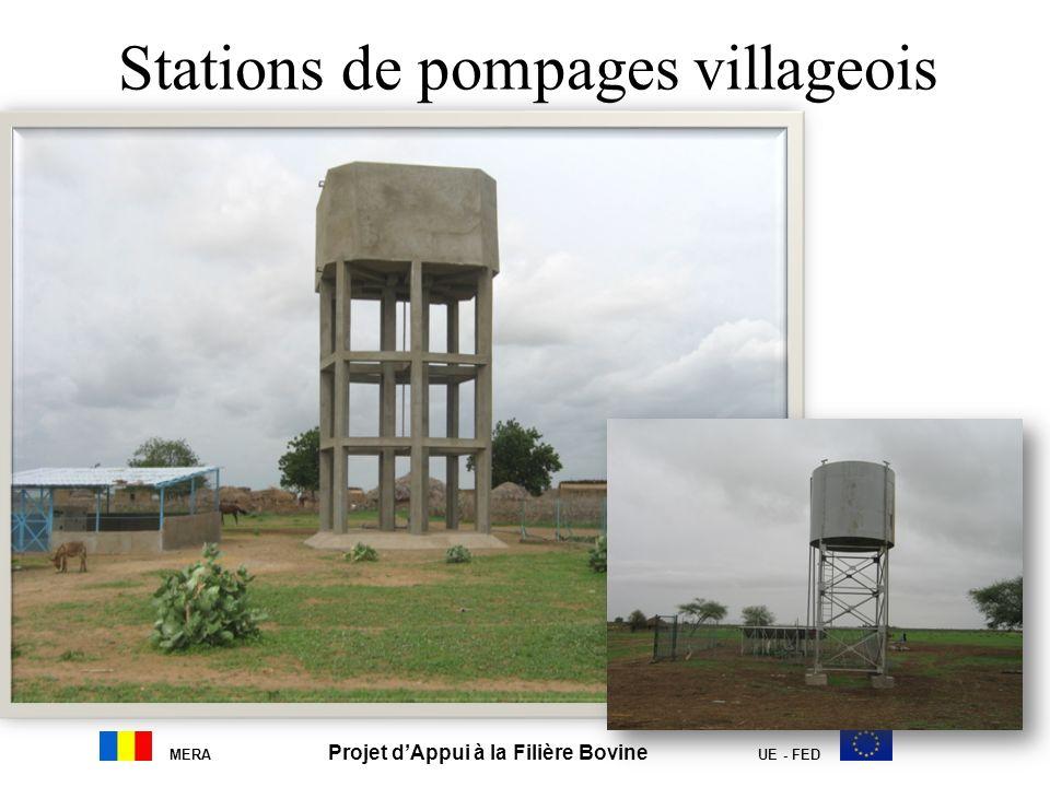 Stations de pompages villageois MERA Projet dAppui à la Filière Bovine UE - FED