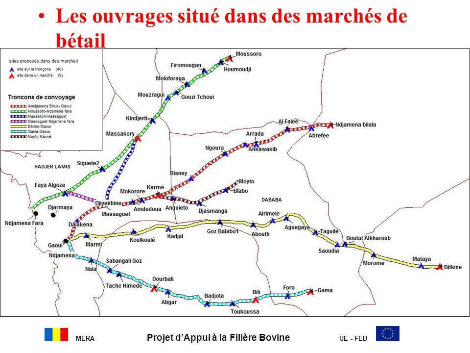 MERA Projet dAppui à la Filière Bovine UE - FED Les ouvrages situé dans des marchés de bétail