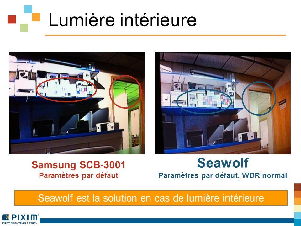 Lumière intérieure Seawolf est la solution en cas de lumière intérieure Samsung SCB-3001 Paramètres par défaut Seawolf Paramètres par défaut, WDR normal