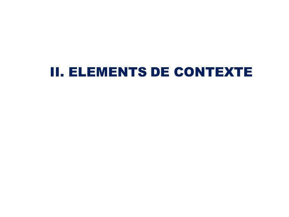 II. ELEMENTS DE CONTEXTE