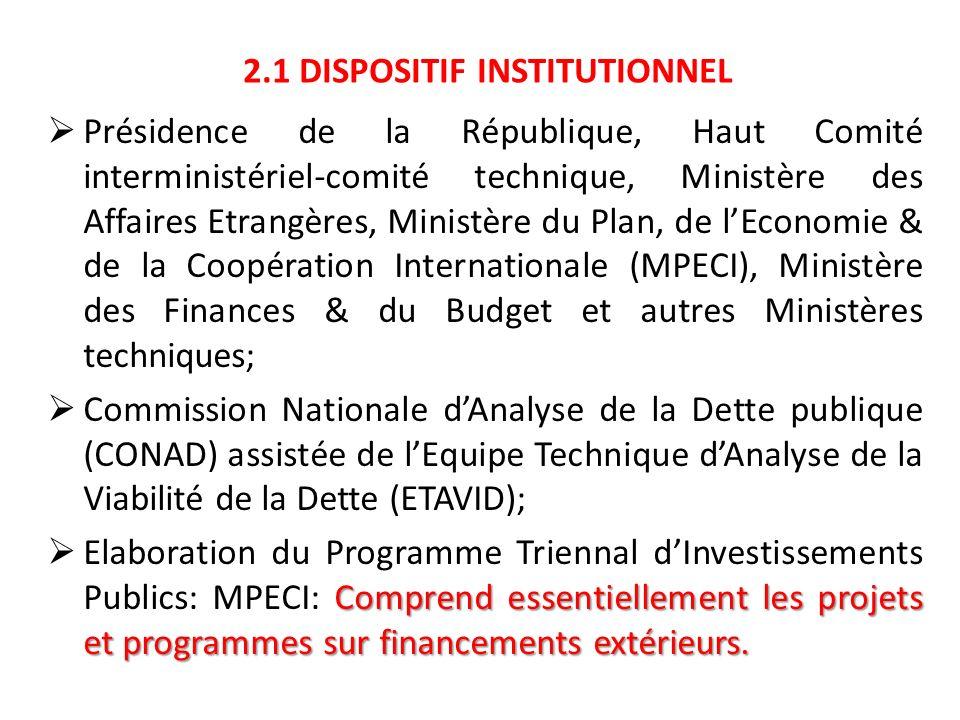 4.3 LOI DE FINANCES Le projet de loi de finances intègre les ressources sur financement extérieur; Le système budgétaire (CID) couvre les investissements sur financement intérieur et sur financement extérieur; Lexécution du budget sur financement extérieur suit la procédure des bailleurs (en dehors du CID).