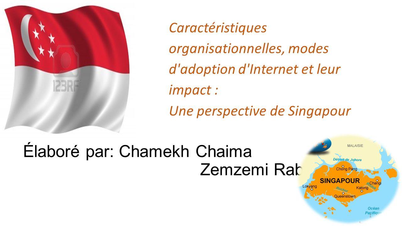 Élaboré par: Chamekh Chaima Zemzemi Rabaa 1 Caractéristiques organisationnelles, modes d'adoption d'Internet et leur impact : Une perspective de Singa