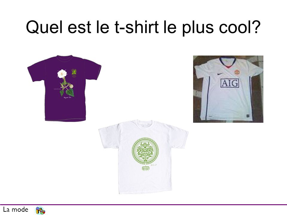 Quel est le t-shirt le plus cool? La mode