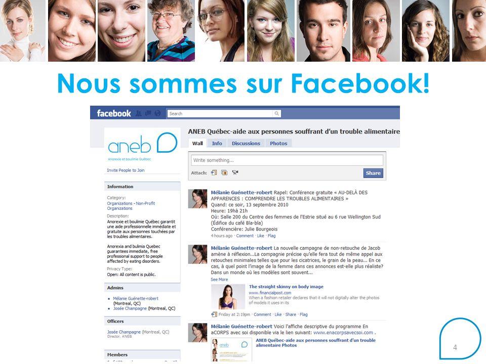 Nous sommes sur Facebook! 4