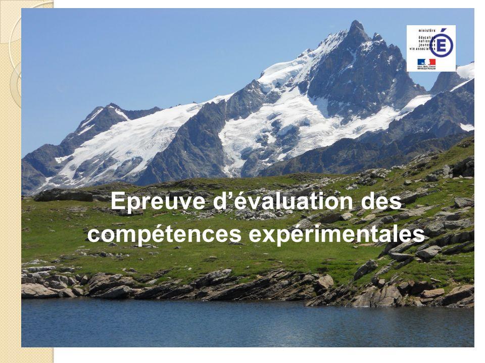 Epreuve dévaluation des compétences expérimentales