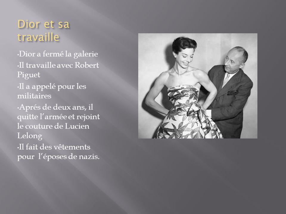 Dior sur son propre Dior ouvert sa propre maison de couture Corolle: le nom de son premier recueil