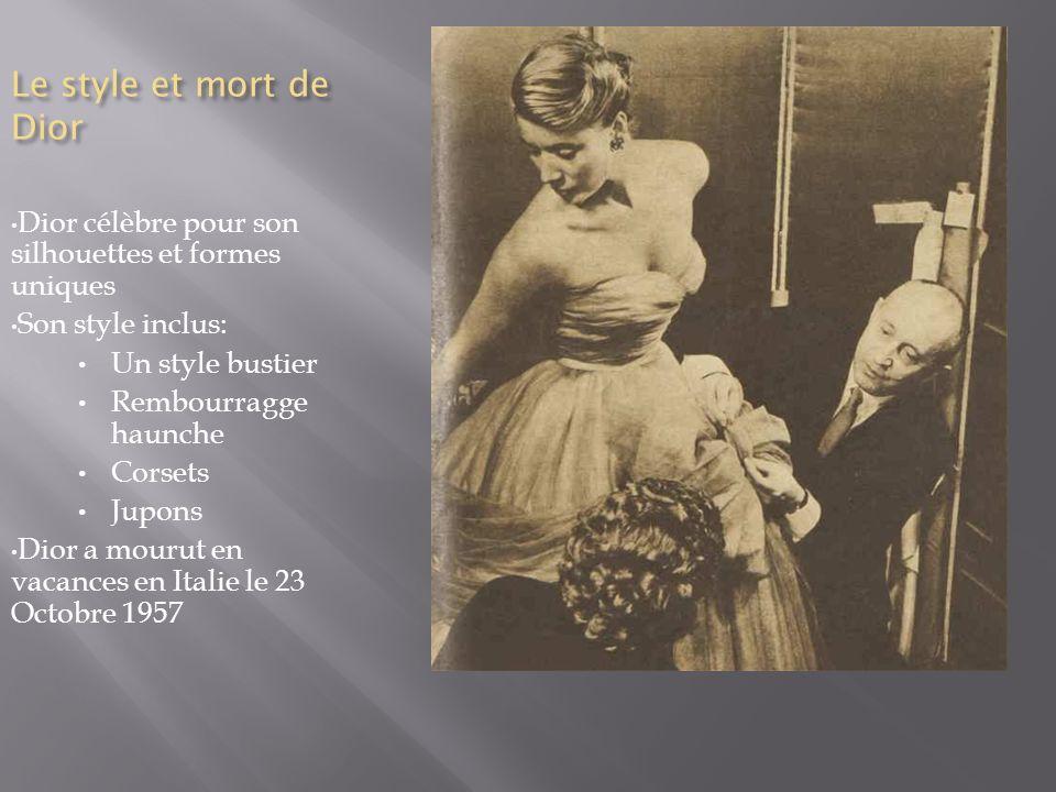 1947 - lancement de son premier parfum, Miss Dior.