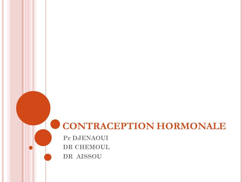 Les anneaux vaginaux: à base doestroprogestatifs placés au fond du vagin pendant 3 semaines(21j) puis enlevés pour avoir une hémorragie de privation pendant une semaine, bien tolérés et restent efficace Exp.