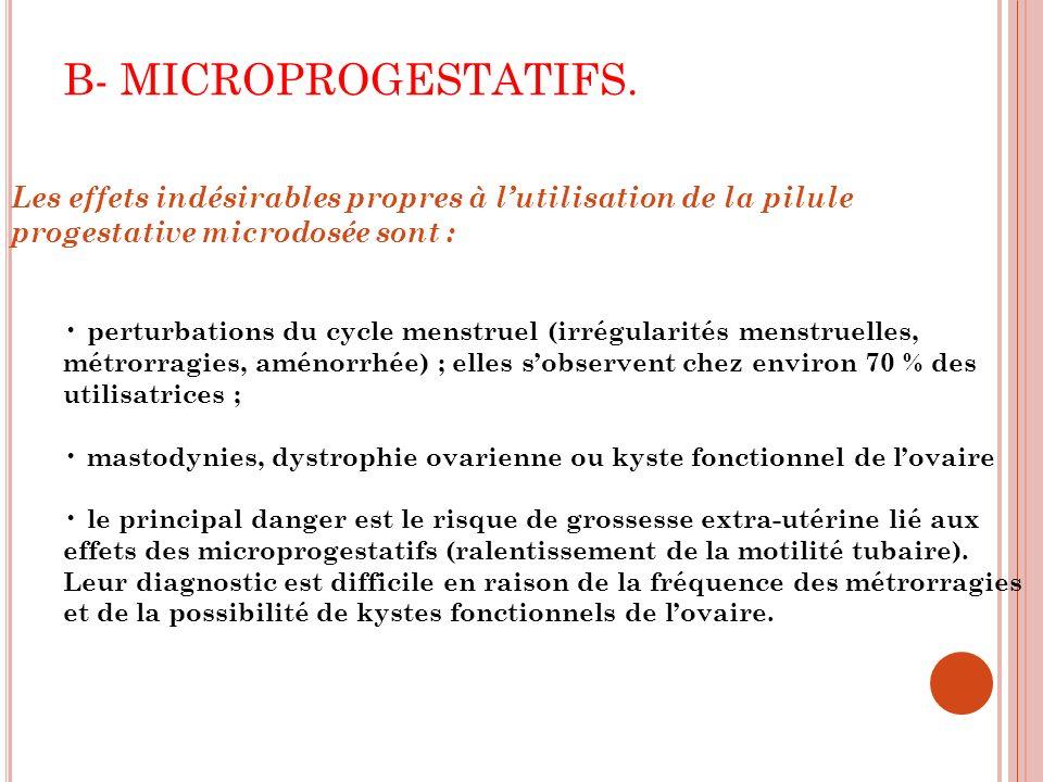 B- MICROPROGESTATIFS.