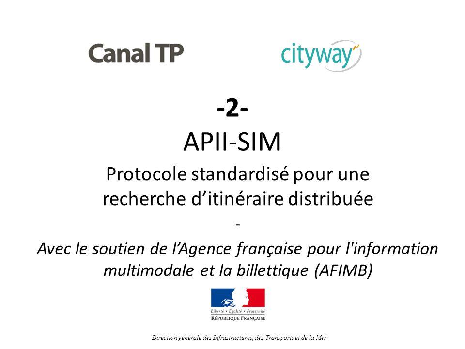 -2- APII-SIM Protocole standardisé pour une recherche ditinéraire distribuée - Avec le soutien de lAgence française pour l'information multimodale et