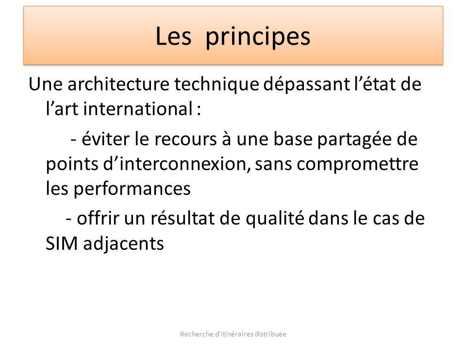Les principes Une architecture technique dépassant létat de lart international : - éviter le recours à une base partagée de points dinterconnexion, sa