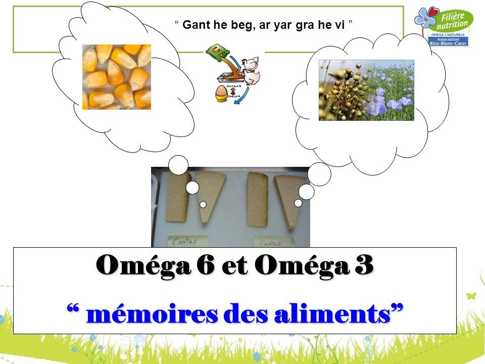 Oméga 6 et Oméga 3 mémoires des aliments mémoires des aliments Gant he beg, ar yar gra he vi