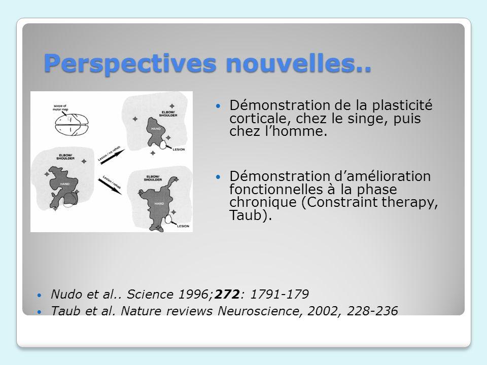 Perspectives nouvelles..Démonstration de la plasticité corticale, chez le singe, puis chez lhomme.