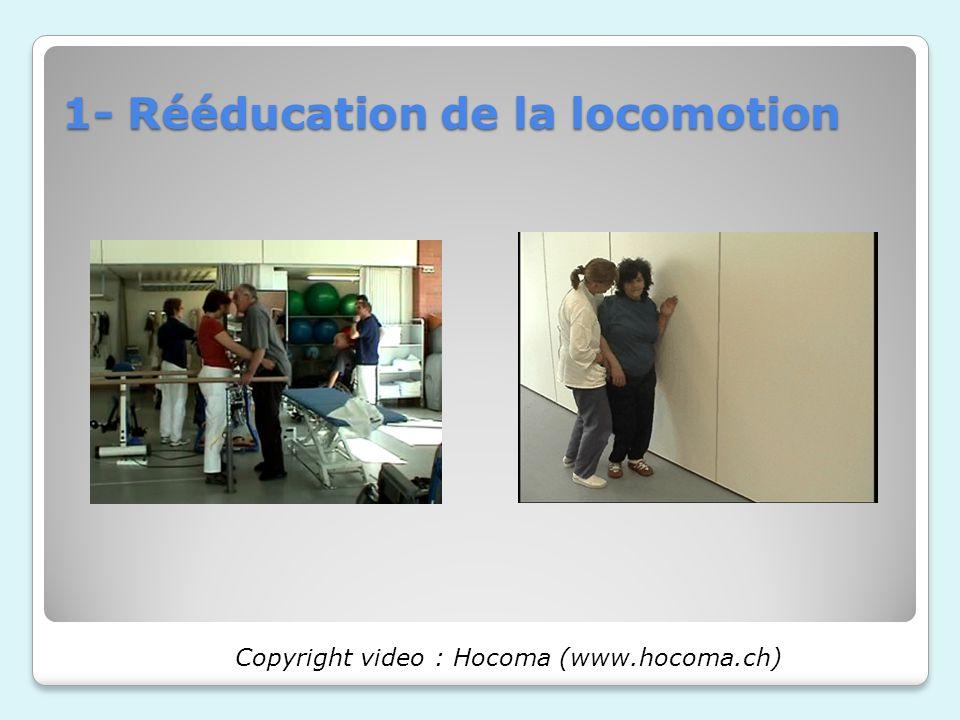 1- Rééducation de la locomotion Copyright video : Hocoma (www.hocoma.ch)