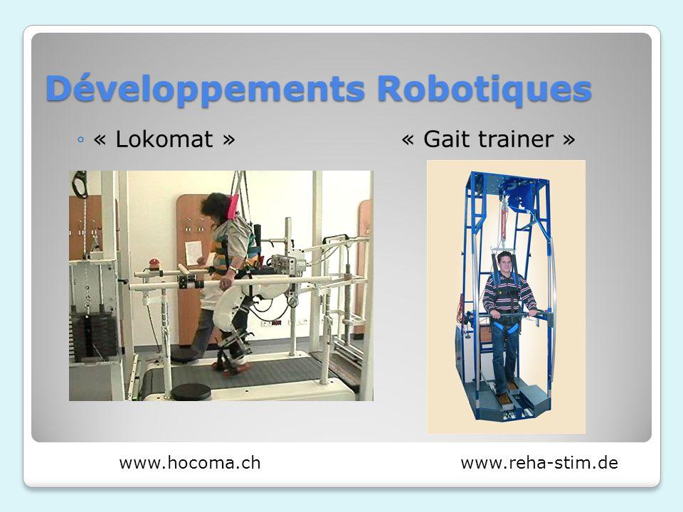 Développements Robotiques « Lokomat » « Gait trainer » www.reha-stim.dewww.hocoma.ch