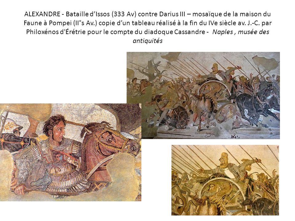 Masques et acteurs (mosaïques du Musée des antiquités nationales de Naples)