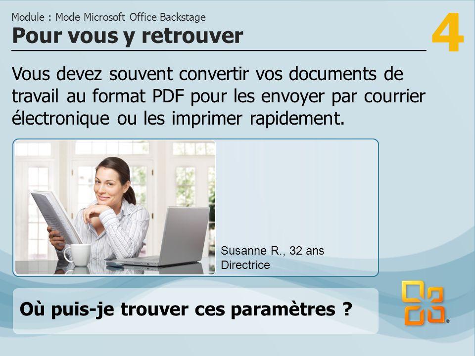 4 Vous devez souvent convertir vos documents de travail au format PDF pour les envoyer par courrier électronique ou les imprimer rapidement.
