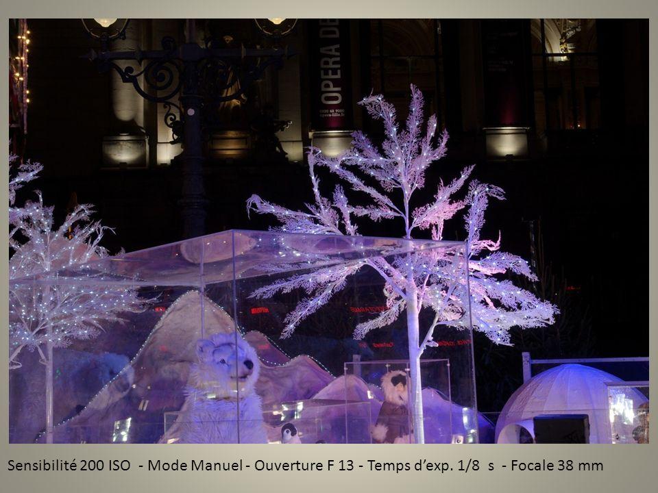 Sensibilité 200 ISO - Mode Manuel - Ouverture F 13 - Temps dexp. 1/8 s - Focale 38 mm